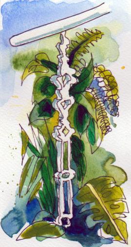 Ballustrade Detail - pen & watercolour