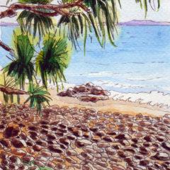 Beach Painting watercolour copyright Karen Smith