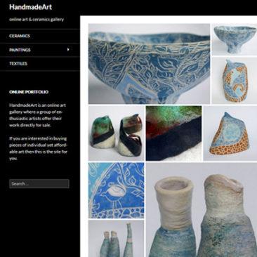 pop-up website for ceramic exhibition