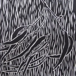 Lino Print - Gum Leaves