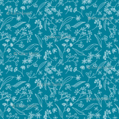 Gum Doodles Fabric Small Scale Teal