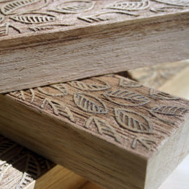 laser cut wood block for printing