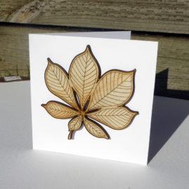 laser cut autumn leaf