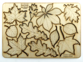 autumn leaves laser cut  plywood press out sheet - available for purchase at Etsy.com