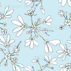 Coriander Blue Fabric
