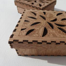 assembled laser cut box