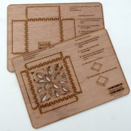 press out laser cut box template