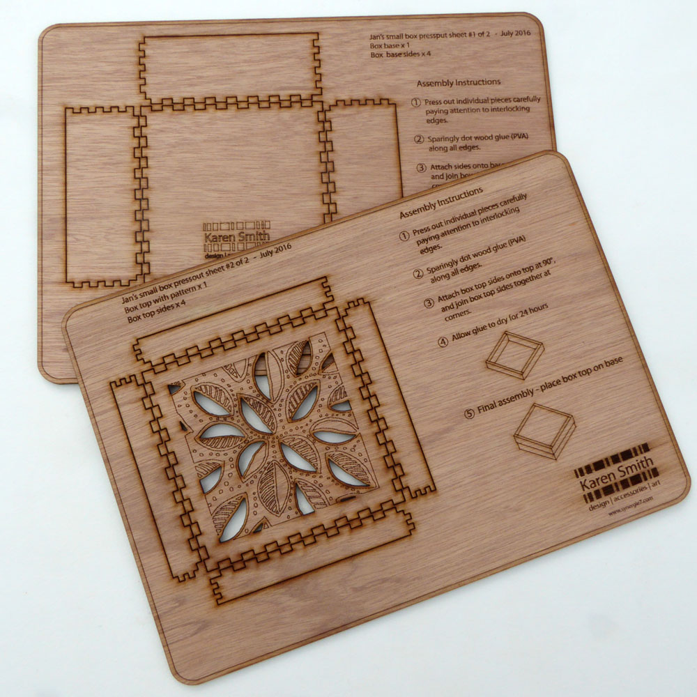 laser cut wood box template how to assemble my press out laser cut boxes karen smith