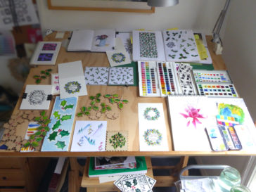 Karen Smith - what's on my drawing board this week? Dec 05 2016