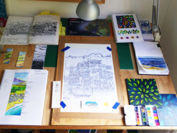 Karen Smith - what's on my drawing board this week? Jan 09 2017