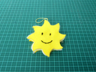 assembled sun - outer felt with wadding