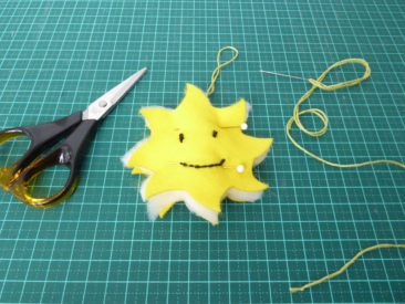 prepare to sew the sun together