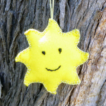Happy Sun Felt Ornament