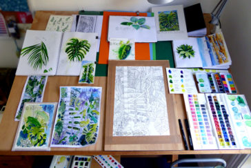Karen Smith - what's on my drawing board this week? May 26 2017