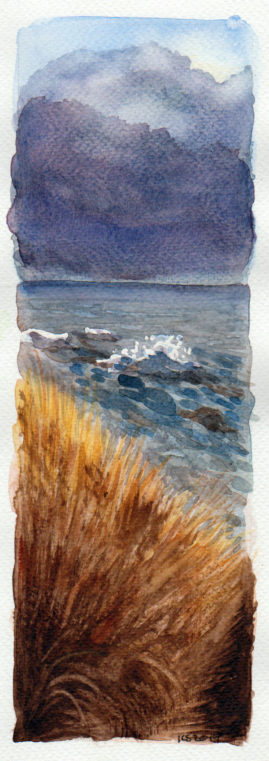 #WorldWatercolor Month July 11 Port Phillip Bay