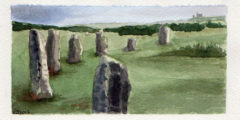 #WorldWatercolor Month July12 The Hurlers