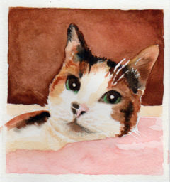 #WorldWatercolor Month July 15 Rosie
