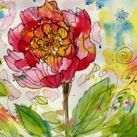 #WorldWatercolor Month July16 Pink Flower