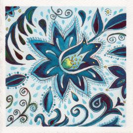 #WorldWatercolor Month July19 Blue Pattern