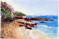 #WorldWatercolorMonth July20 Ricketts Point