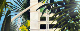 Palm House1 acrylic painting ©KarenSmith