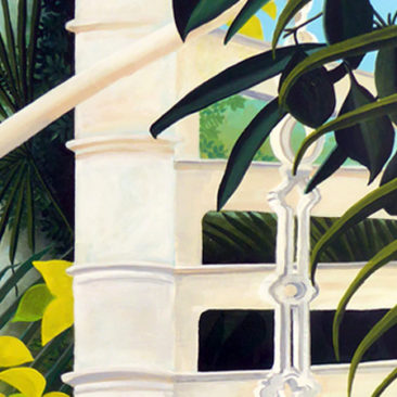 Palm House1 acrylic painting ©KarenSmith