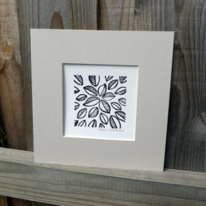 Mounted Woodblock Print - Leaf Cluster