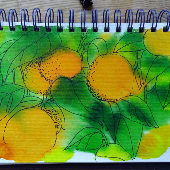 inked oranges