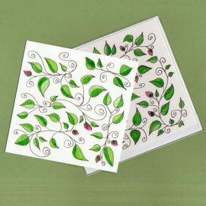 Leaves and Vines Card ©KarenSmith