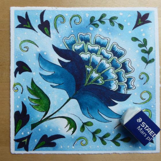 Jacobean flower painting ©KarenSmith