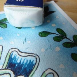 Sticky masking fluid – solution
