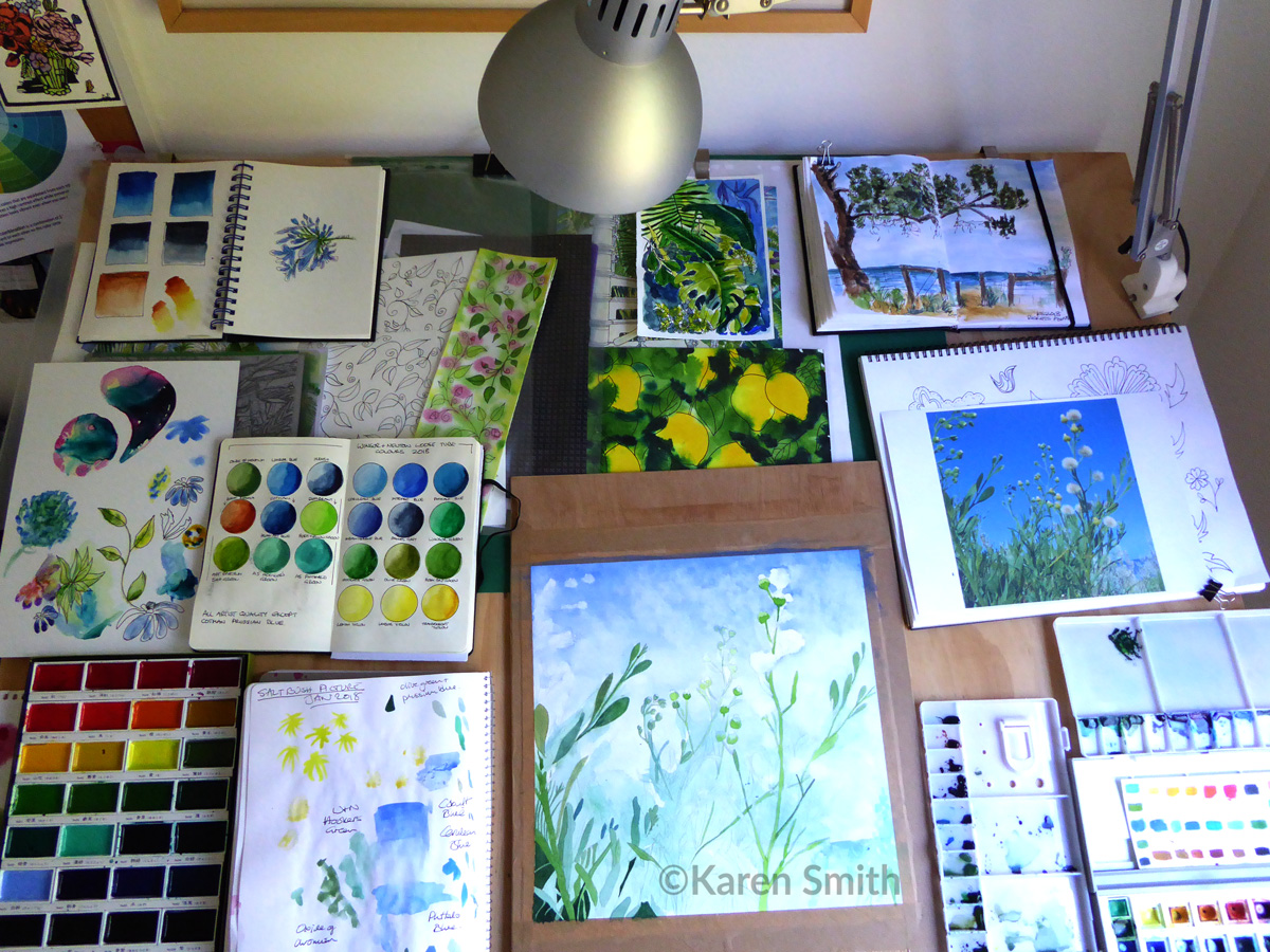 Karen Smith - what's on my drawing board this week? Feb 02 2018