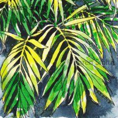 Palm House Watercolour5 Detail - pen & watercolour