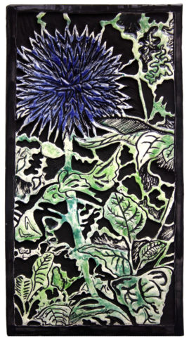 thistle tile wallhanging