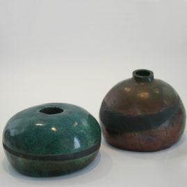 green raku pot