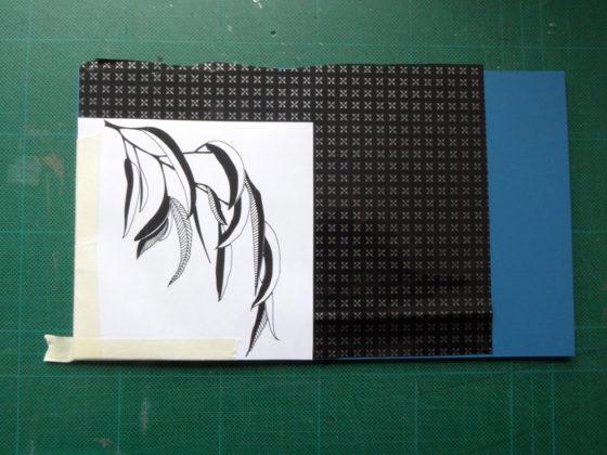 lino cut process - using carbon paper