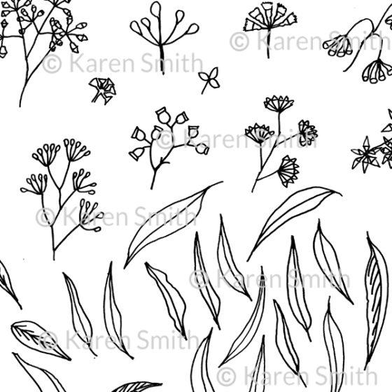 gum doodle sketch scan
