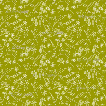 Gum Doodles Fabric Small Scale Lime