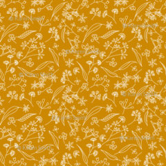 Gum Doodles Fabric Small Scale Orange