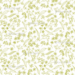 Gum Doodles Fabric Lime on white small scale