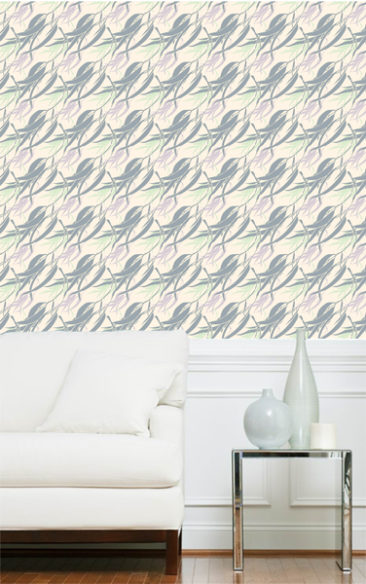 gum breeze pattern repeat - linear - room mock up