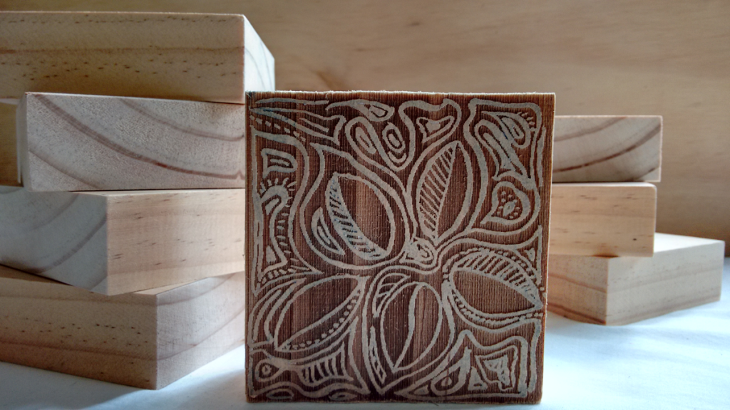laser cut wood blocks