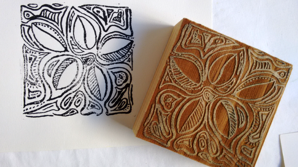 wood block and print