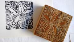 wood block and print