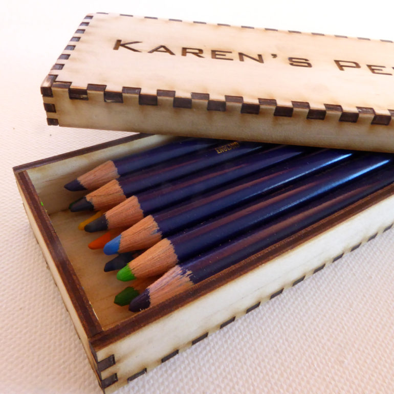 Laser Cut Wooden Pencil Box