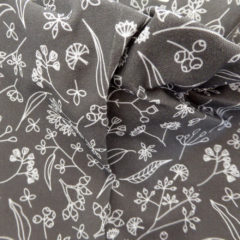 Gum Doodle fabric grey ©KarenSmith