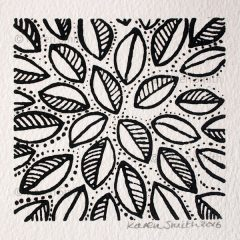 Wood Block Leaf Print 1