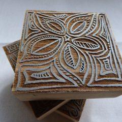 laser cut wood block