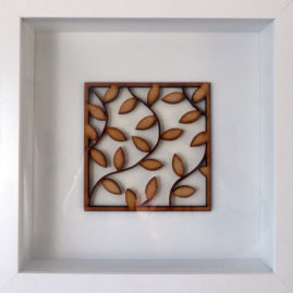 framed laser cut leaves pattern