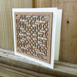 Plywood Celtic Laser cut Card ©KarenSmith
